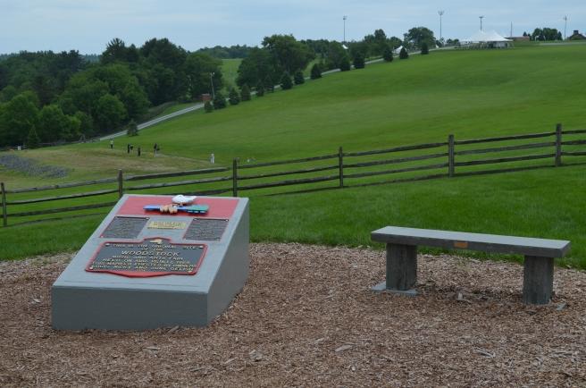 Monument at original Woodstock location